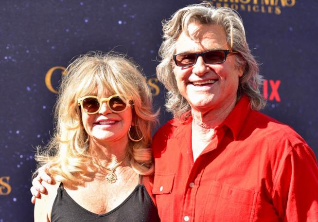 Kurt Russell e Goldie Hawn alla prima del film 'The Christmas Chronicles'