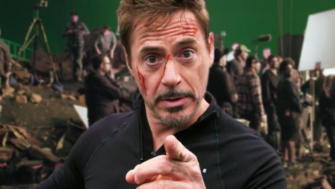Robert Downey Jr. sul set di Avengers: Infinity War