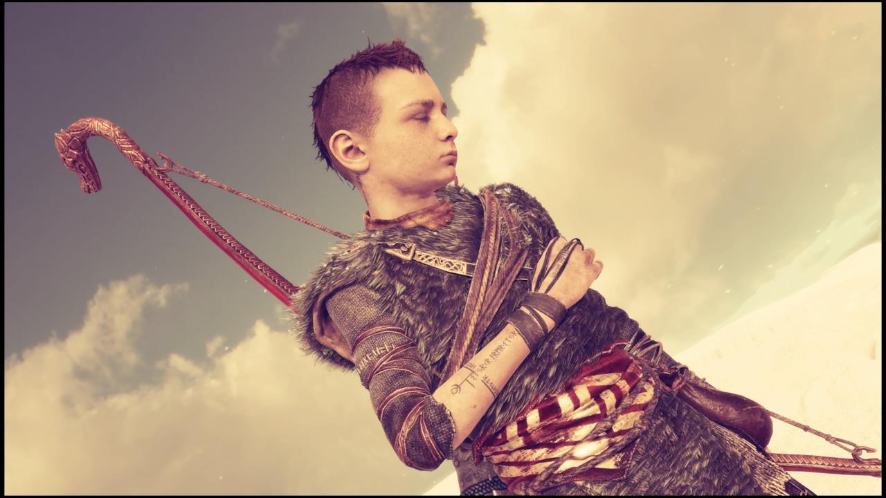 Il giovane Atreus in God of War