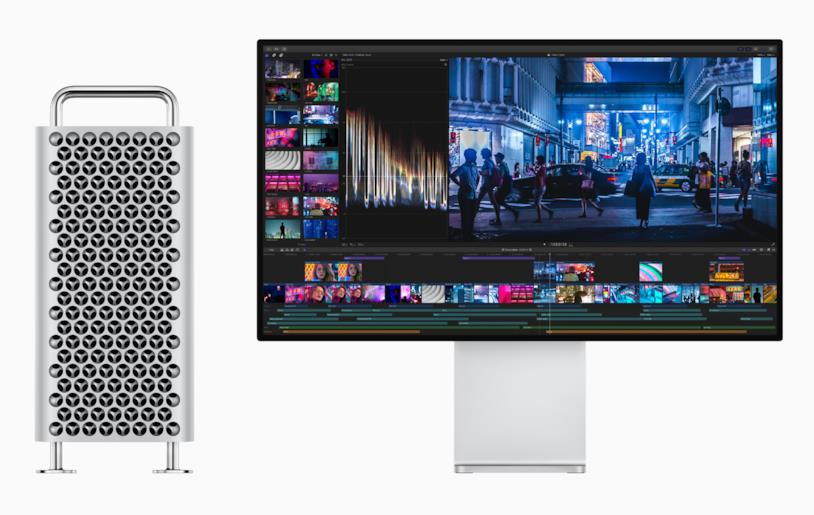 Il nuovo Mac Pro (sinistra) e il Pro Display XDR