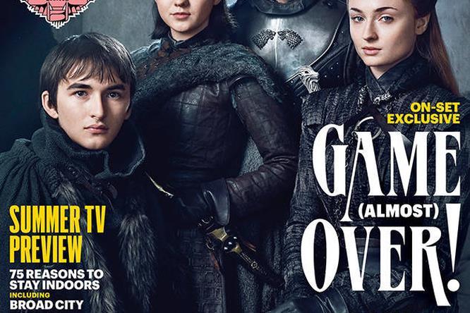La Famiglia Stark in posa per la copertina di EW