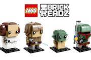 Leila, Luke Skywalker, Yoda e Boba Fett di Star Wars in chiave LEGO BrickHeadzz