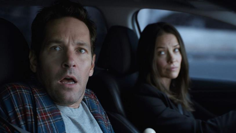 Paul Rudd ed Evangeline Lilly in una sequenza del film Ant-Man and the Wasp
