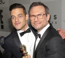 gli attori di Mr. Robot, Rami Malek e Christian Slater