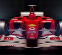 La Ferrari F2002 del 2002 di Rubens Barrichello e Michael Schumacher nel trailer di F1 2017