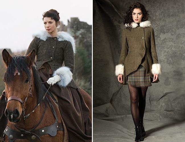 Un cappotto della collezione donna Outlander