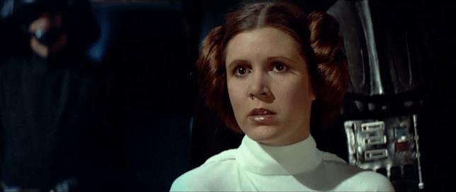 Carrie Fisher è la Principessa Leia in Star Wars