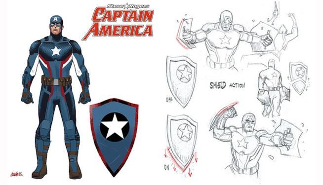 Il recente design dello scudo di Captain America nei comics