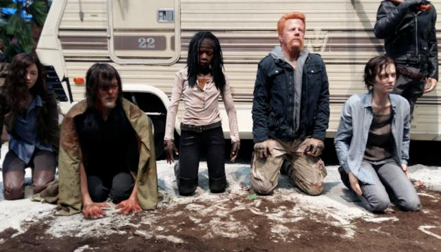 Abraham, Michonne, Daryl e Maggie ricostruiti in cera