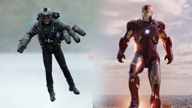 La tuta jet di Gravity Industries e Iron Man del MCU