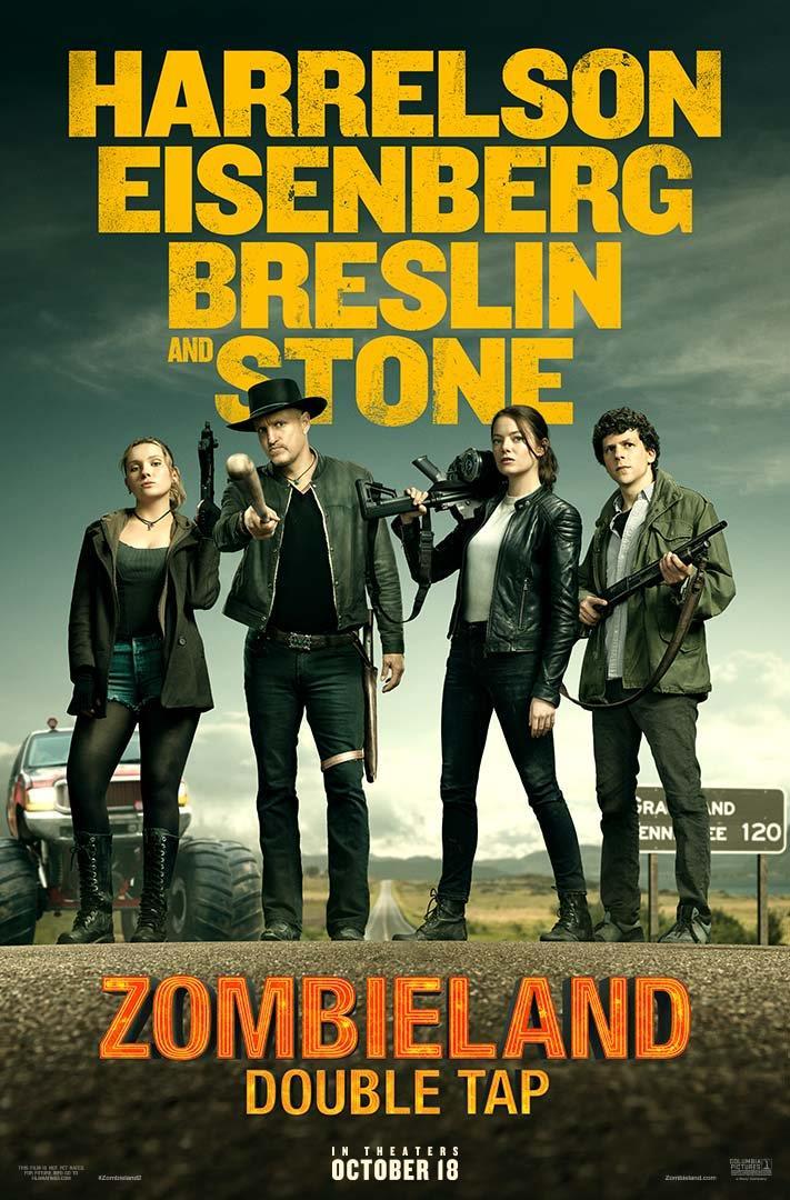 I protaginisti di Zombieland: Double Tap in un nuovo poster