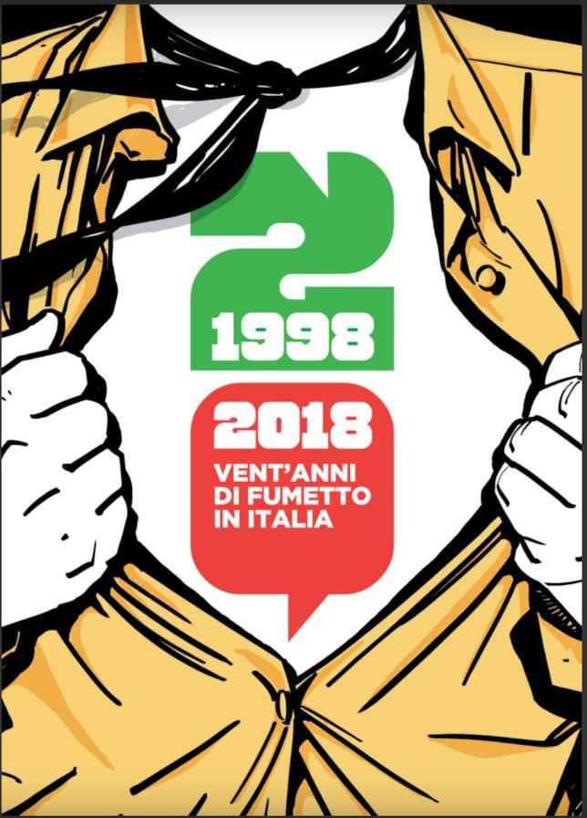 La cover del libro che celebra i venti anni della nona arte in Italia