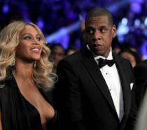 Primo piano di Jay-Z e Beyoncé