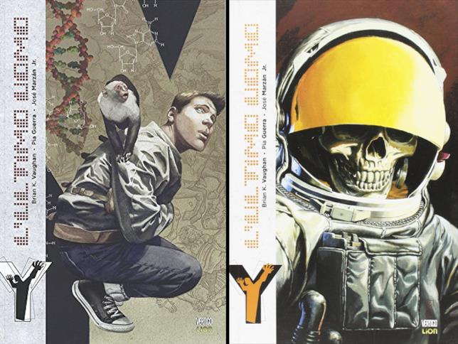 Le copertine di Y: L'Ultimo Uomo edite da RW Edizioni