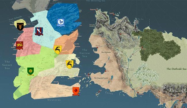 Screenshot della mappa Quartermaester