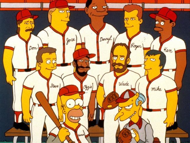 L'intera squadra di baseball della centrale nucleare di Springfield