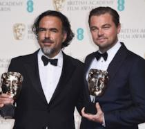 Alejandro Gonzalez Iñarritu e Leonardo DiCaprio ai BAFTA 2016