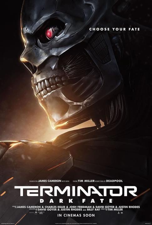 Il profilo metallico del nuovo Terminator con la classica pupilla rossa