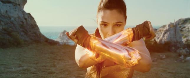 Una scena di Wonder Woman in cui Diana scopre i propri poteri