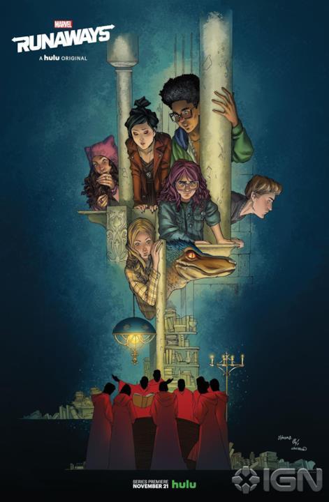 Il poster con i ragazzini di Runaways