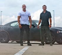 Gli attori Vin Diesel e Paul Walker