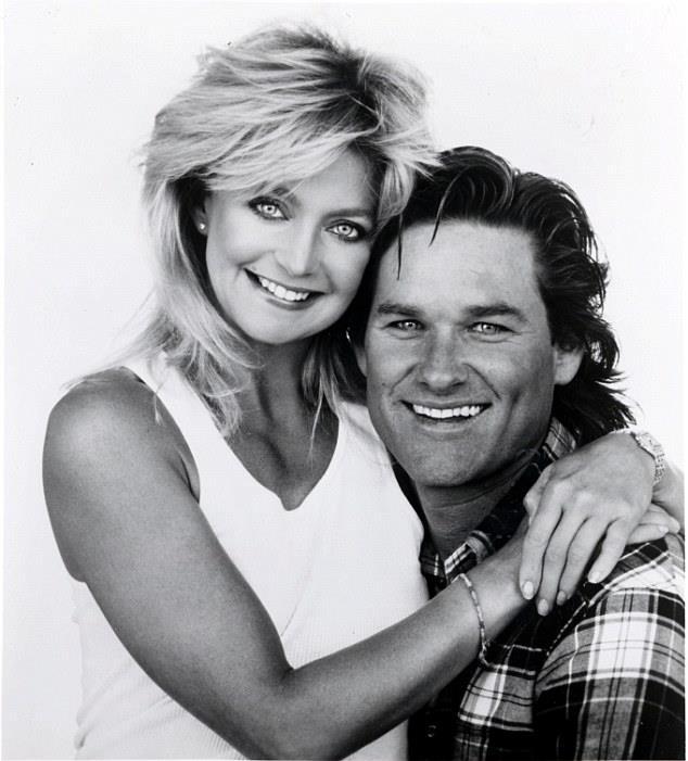 Goldie Hawn e Kurt Russell da giovani