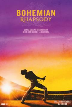 Rami Malek nel poster italiano di Bohemian Rhapsody