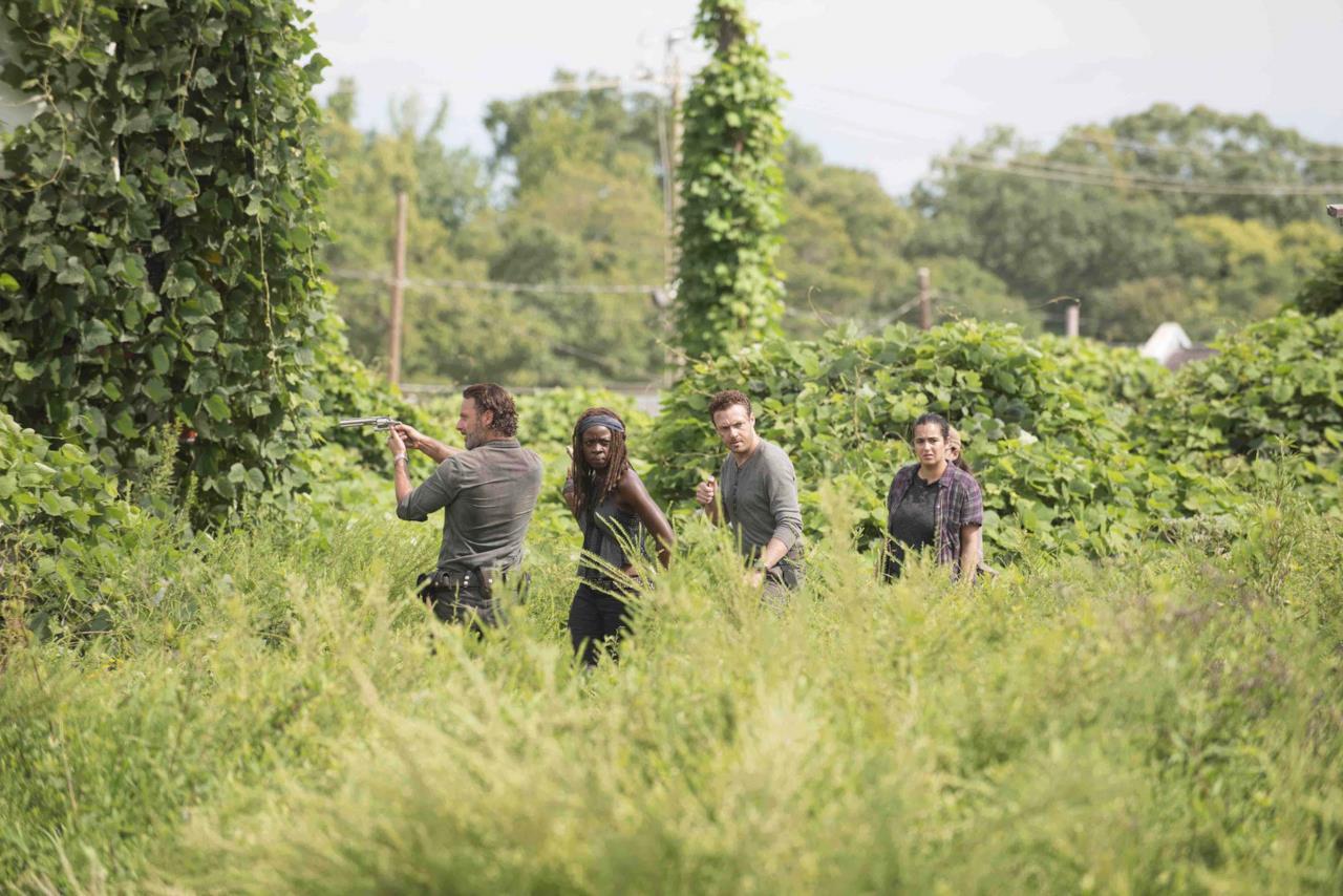 Rick, Michonne, Aaron e Tara