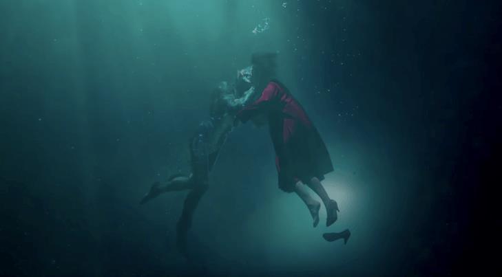 Una scena sott'acqua ne La Forma dell'Acqua