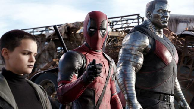 Deadpool coi mutanti Testata Mutante Negasonica e Colosso