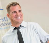 L'attore George Eads sorridente al Montecarlo TV Festival