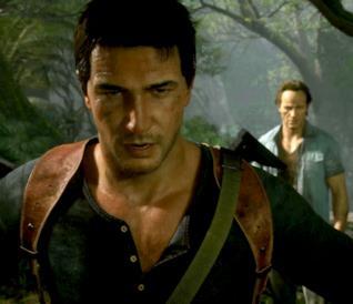 L'avventuriero Nathan Drake nel videogame Uncharted