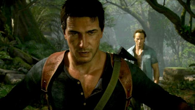 L'avventuriero Nathan Drake nel videogame Uncharted