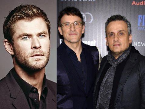 Chris Hemsworth e i fratelli Russo insieme