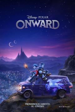 i due protagonisti nel poster di Onward