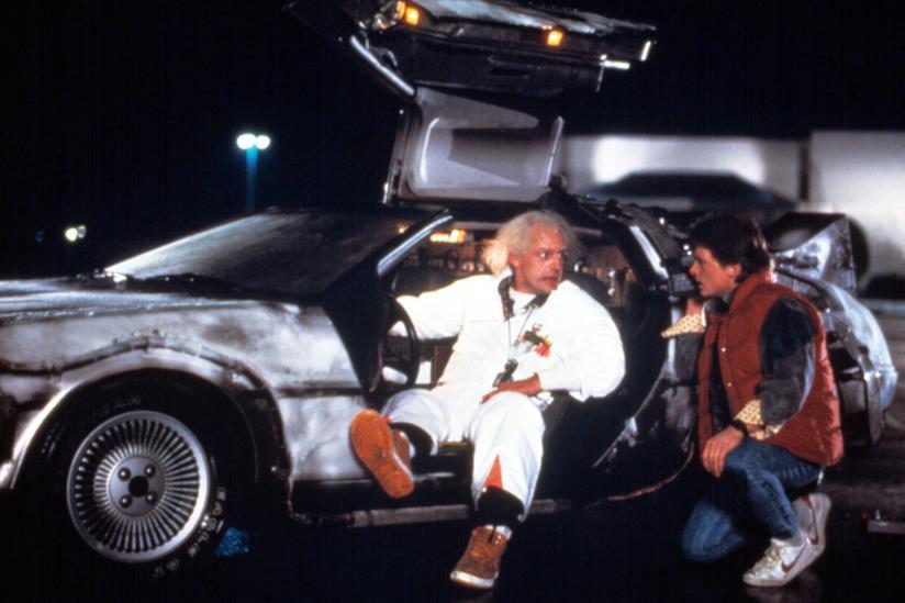 Marty e Doc con la loro DeLorean