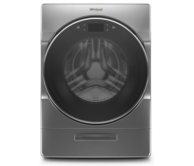 Immagine stampa della nuova lavatrice e asciugatrice smart di Whirlopool presentata al CES 2019