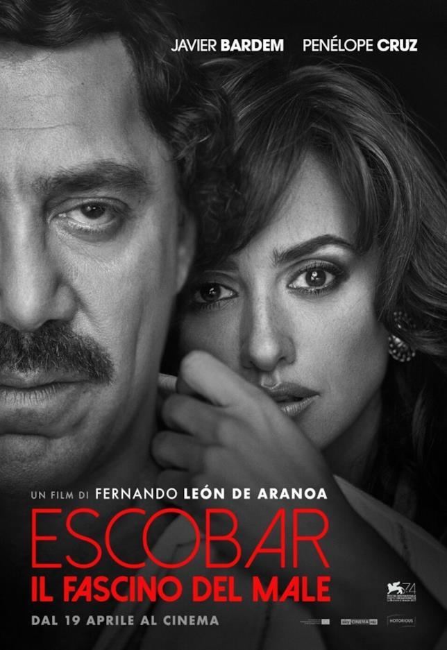 Poster italiano ufficiale di Escobar - Il fascino del male