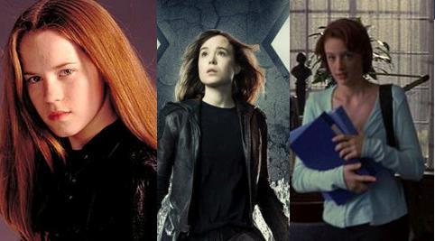 Le tre attrici che hanno interpretato Kitty Pryde nella saga degli X-Men