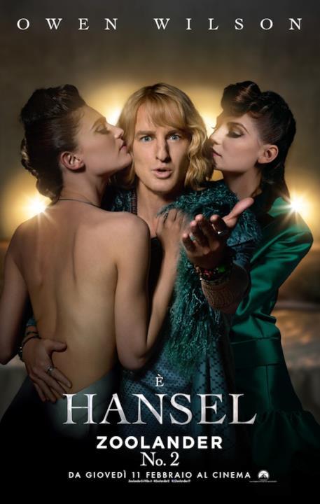 La locandina di Zoolander 2 col personaggio di Hansel