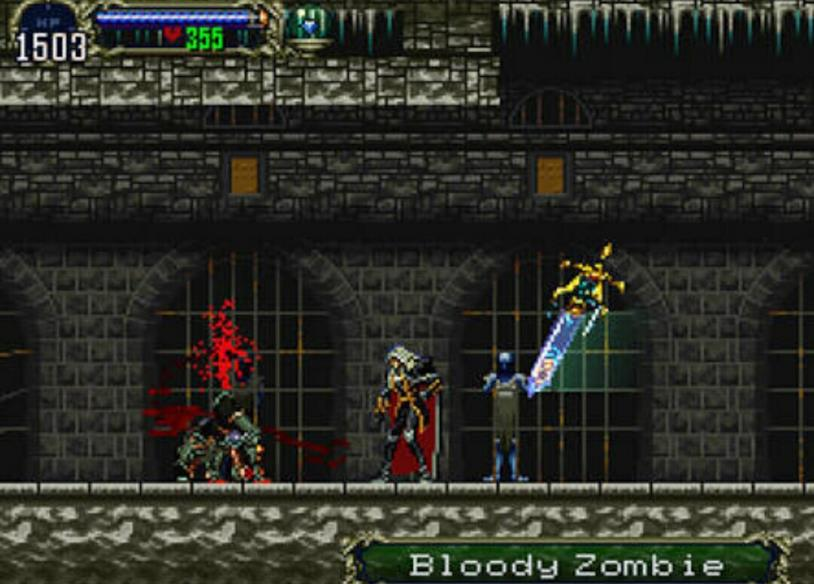 Uno screenshot di Castlevania: Symphony of the Night