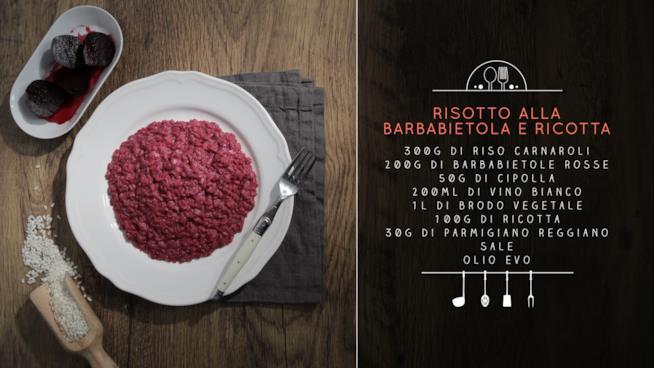 La ricetta del risotto alla barbabietola e ricotta