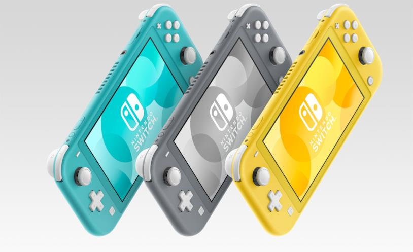 Nintendo Switch Lite nelle sue tre colorazioni sul mercato