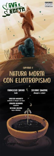 La cover del secondo capitolo web di Vivi e Vegeta disegnato da Roberta Ingranata