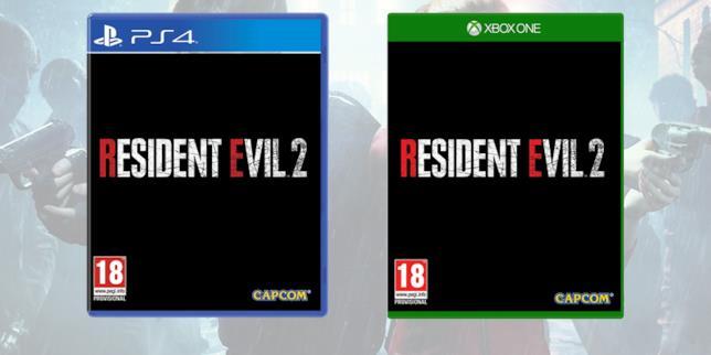 La boxart provvisoria di Resident Evil 2