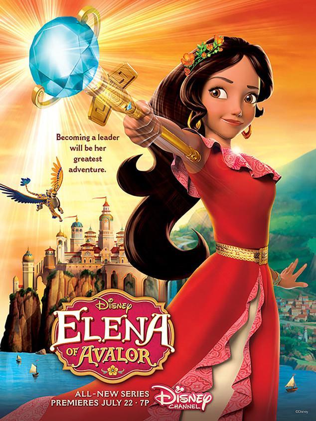 Il poster di Elena of Avalor nuova serie animata di Disney Channel