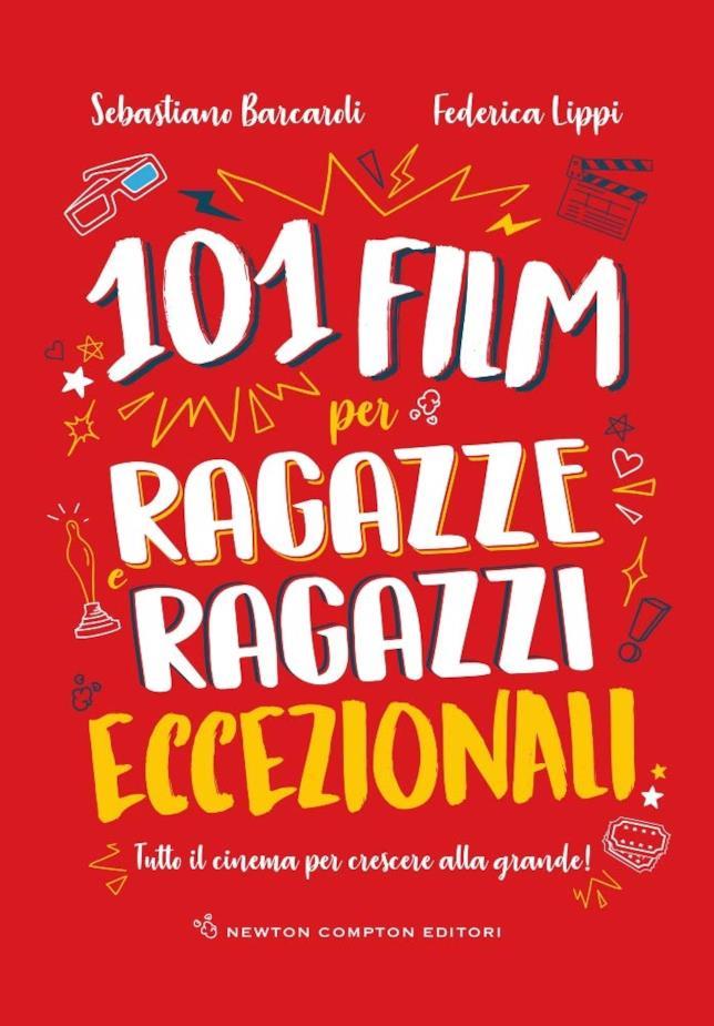 Copertina rossa di 101 film per ragazze e ragazzi eccezionali