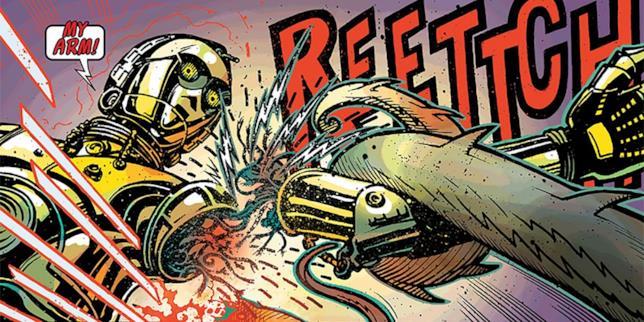 Immagine dal fumetto Star Wars Special: C-3P0, in cui il droide perde il braccio