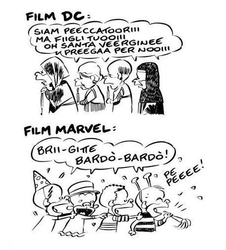 La differenza tra i cinecomic Marvel e DC per Ortolani