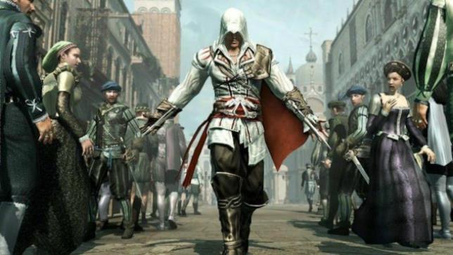 Ezio Auditore per le strade di Venezia